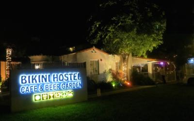 Bikini Hostel Sign Miami Beach
