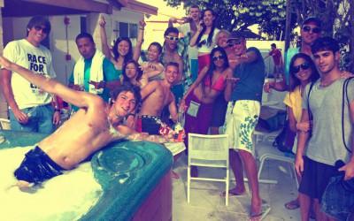 young people having fun at the Bikini Hostel